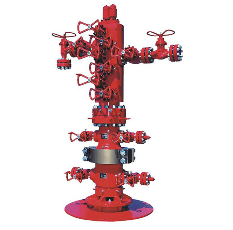 models wellhead and Christmas tree