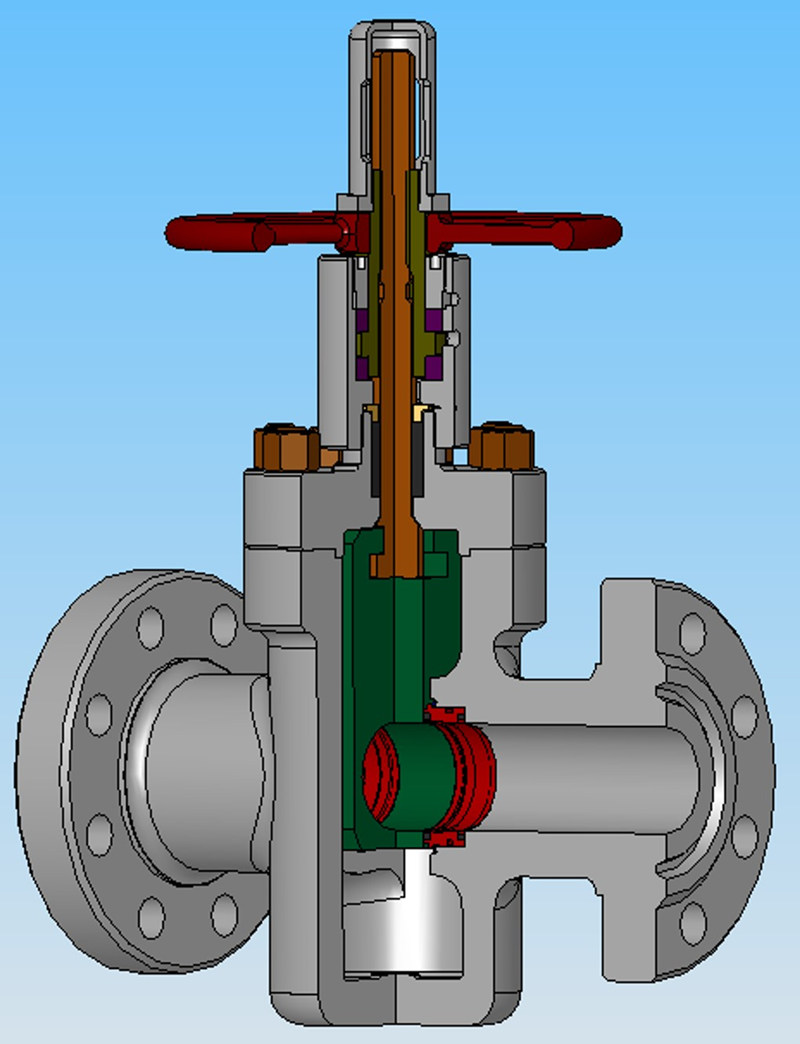 flanged-thermal recovery wellhead