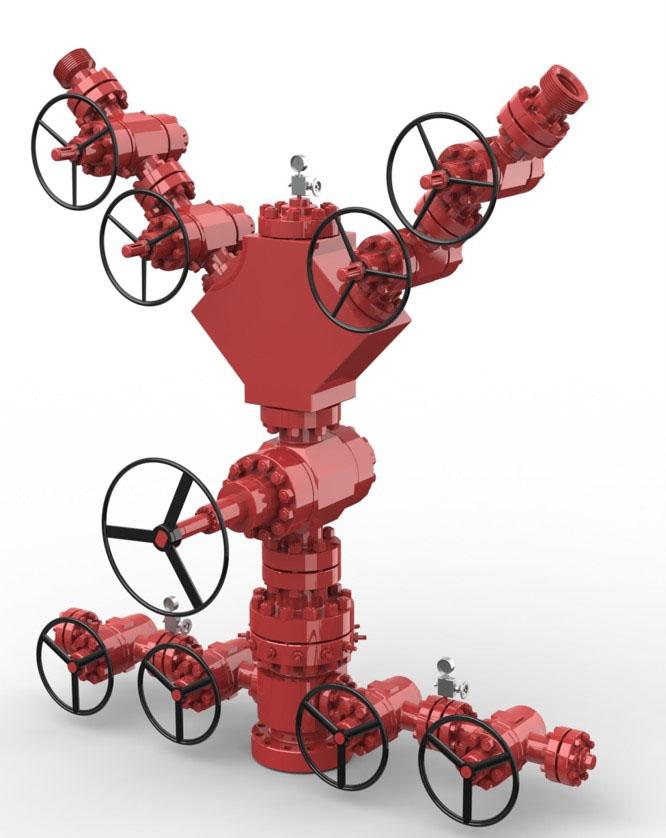 fracture wellhead for oilfield