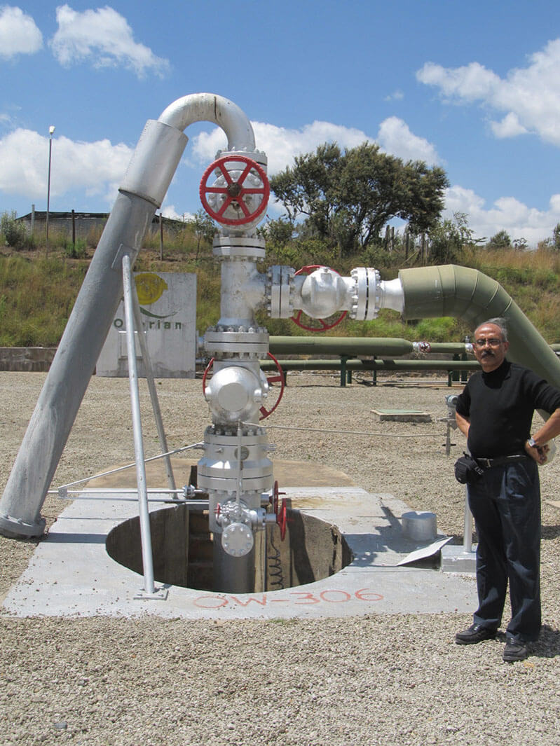 geothermal wellhead and christmas tree
