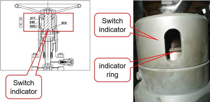 offshore wellhead & x-mas tree switch indicator