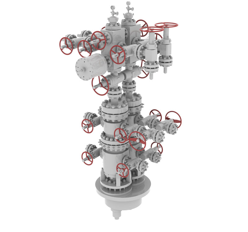 single column dual well thermal recovery wellhead and christmas tree